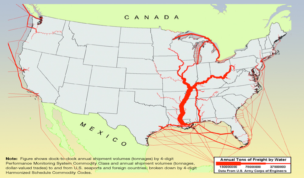 Proposed Dredging Of Mississippi River Would Dramatically Boost - Us inland waterways map