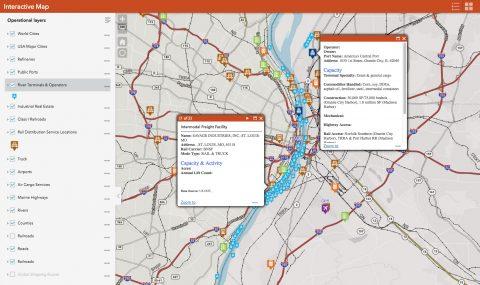 St. Louis Regional Freightway Map