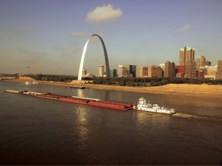 St. Louis Regional Ports and Terminals Ranked Most Efficient, Capture One-Third of the Upper Mississippi River Barge Freight Traffic