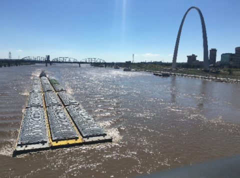 St. Louis Region Barge Freight Traffic