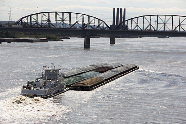 Rock removal helps keep cargo moving along the Mississippi