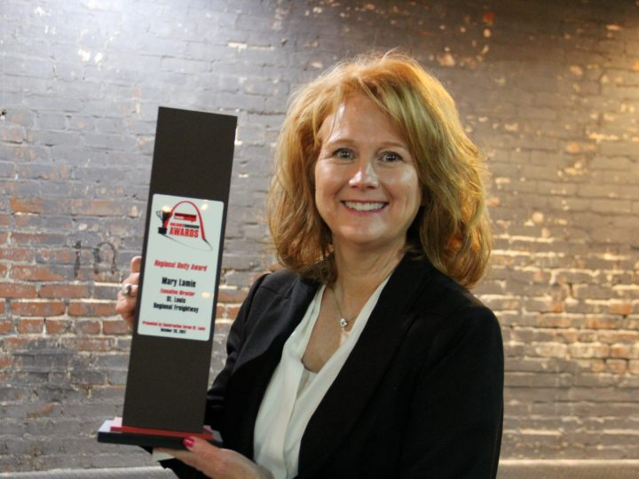 Mary Lamie Receives Regional Unity Award for St. Louis Regional Freightway Achievements