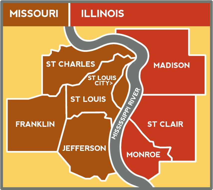 St Louis State Map.The Freightway Your Gateway To The World