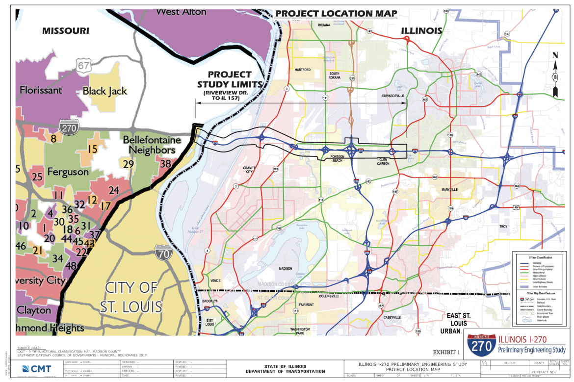 I-270 Preliminary Engineering Study Map
