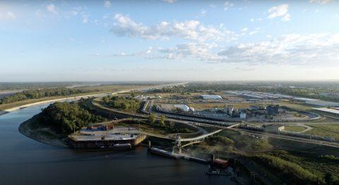 Overhead shot of America's Central Port