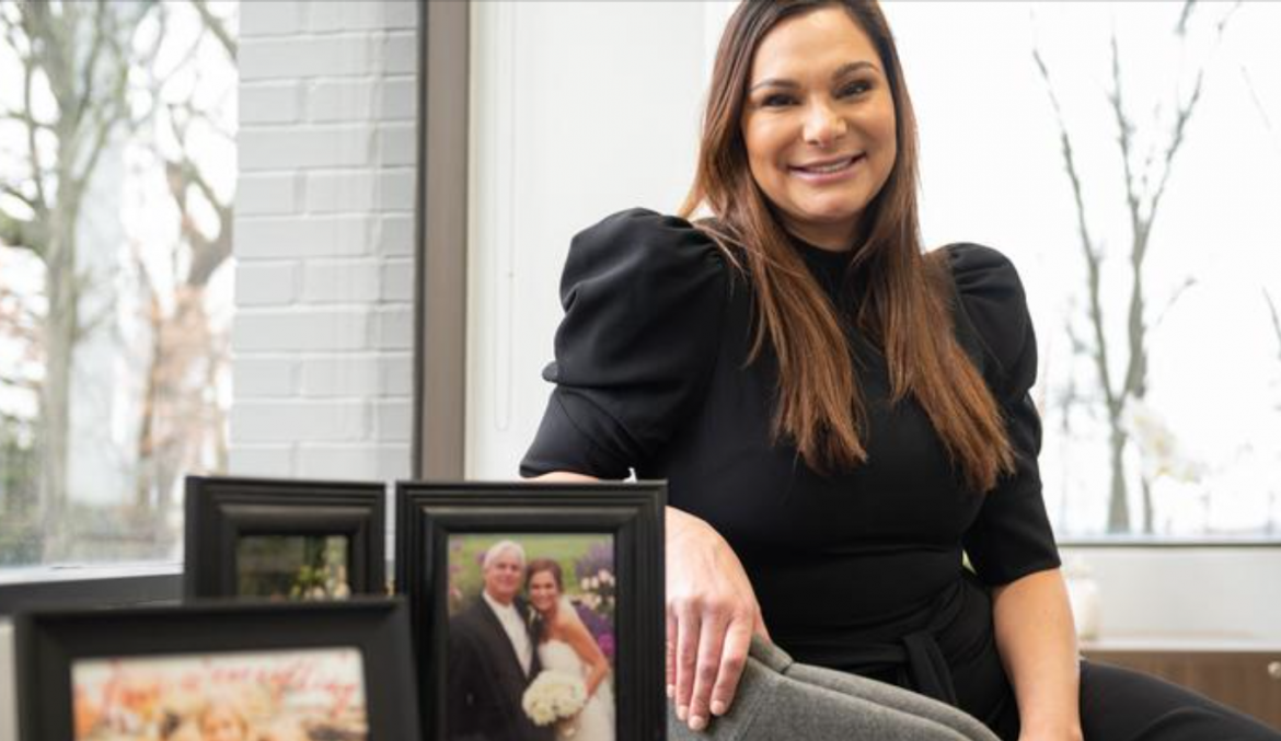 Lindsey Graves, CEO and majority owner of Sunset Transportation, took over the role in late 2020. She sits in an office here.