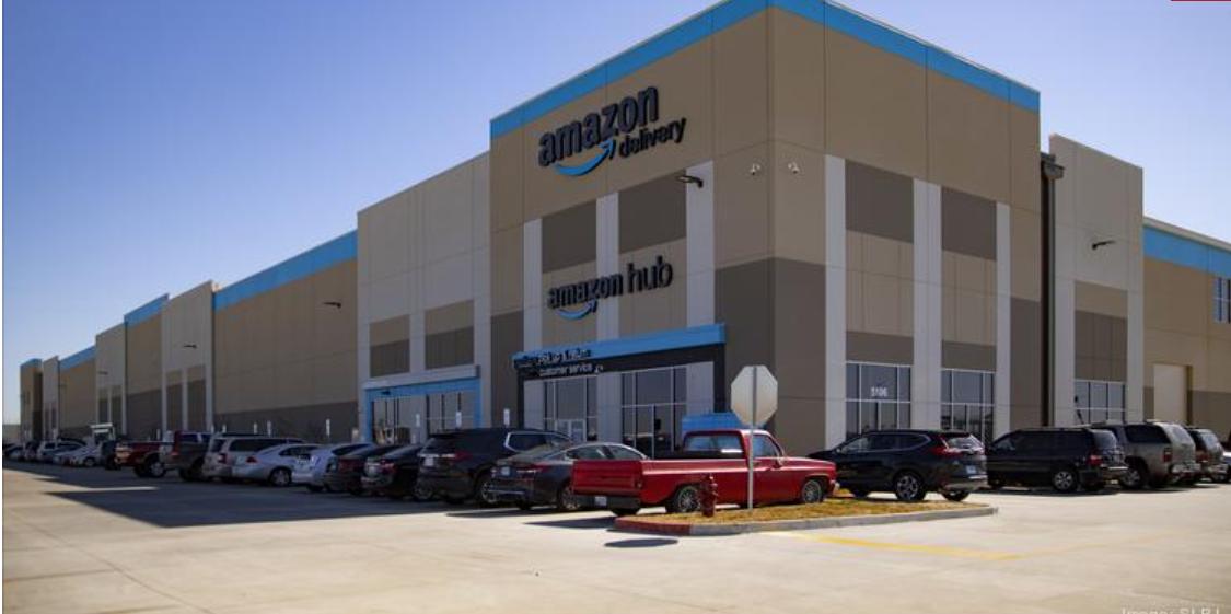 The Amazon fulfillment center at Gateway TradePort Logistics Park.