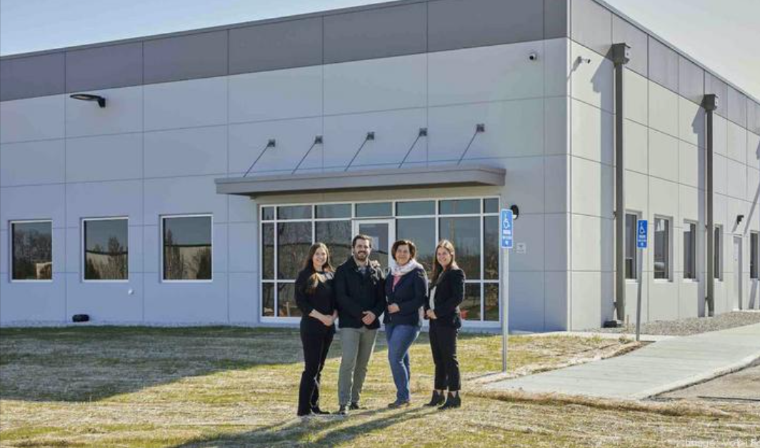Volpi Foods on April 19 will begin operations at its new 86,000-square-foot facility in Union, Missouri, where it will slice and package various meat products. Pictured here (from left) are Marketing Manager Deanna Depke, Supply Chain Manager Derek Depke, CEO Lorenza Pasetti and Commercialization Manager Daniela Walker.