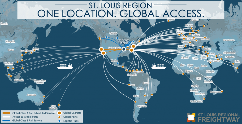 St. Louis Region One Location. Global Access. map