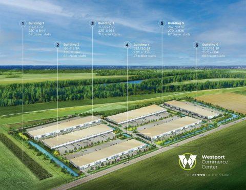 Drawing of new development in Westport area