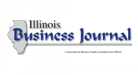 logo for the Illinois Business Journal on a white background