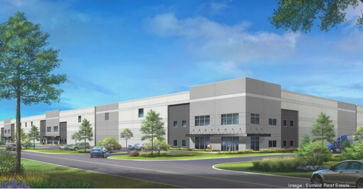 A rendering of the new warehouse set to be built in St. Louis County.